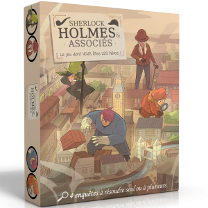 Boite de Sherlock Holmes et Associés : Le Jeu dont vous êtes le Héros