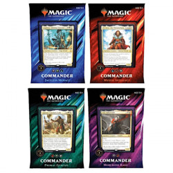 Lot de 4 decks Commander 2019 VF