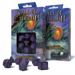 Set de 7 Dés - Call of Cthulhu - Noir / Violet