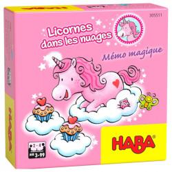 Licornes Dans les Nuages - Mémo Magique