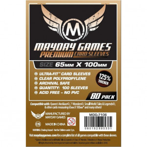 Boite de 80 Protège Cartes 7 Wonders 65x100mm Mayday Premium (MDG-7106)