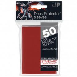 50 Protège Cartes Standard Rouge -...