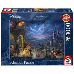 Puzzle Disney Kinkade - La Belle et la Bête -...