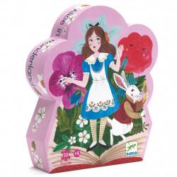 Puzzle Silhouette - 50 Pièces - Alice au Pays...
