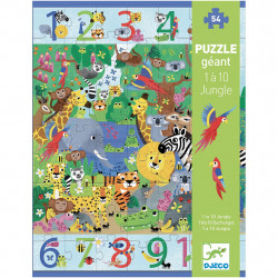 Puzzle Géant - 1 à 10 Jungle