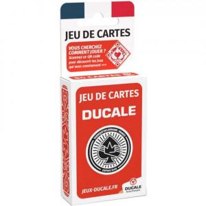Boite de Jeu de 54 Cartes - Ducale - Rouge