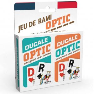 Boite de Jeu de Rami Optic (2x54 Cartes) - Ducale