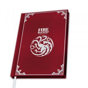 Boite de Game of Thrones - Cahier A5 Premium Targaryen