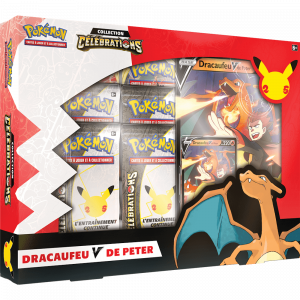 Boite de Pokemon 25 ans - Célébrations - Coffret Dracaufeu-V de Peter