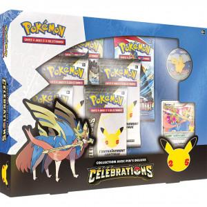Boite de Pokemon 25 ans - Célébrations - Coffret Pins Deluxe Zacian Niv. X