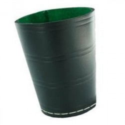 Gobelet Noir en Cuir (intérieur Vert)