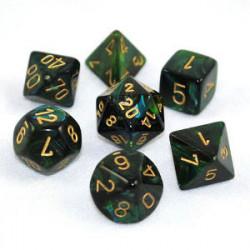 Set de 7 Dés - Scarabée Jade (Chessex 27415)