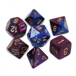 Set de 7 Dés - Gemini Bleu et Violet (Chessex...