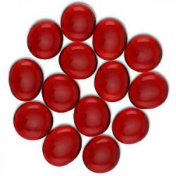 Sachet de 30 Gemmes - Rouge Transparent (Dragon...