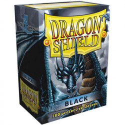 100 Protège Cartes Dragon Shield Noir