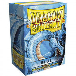 100 Protège Cartes Dragon Shield Bleu