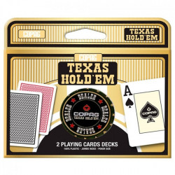 Double Deck Texas Hold'Em + Dealer Button