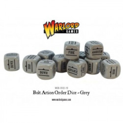 Bolt Action : Orders Dice packs - Grey