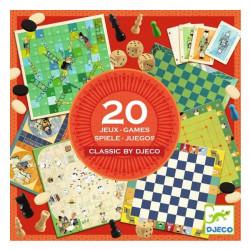 Coffret 20 Jeux Classiques Djeco
